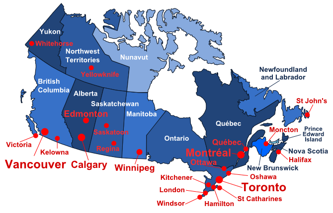 Map Of Canada Yellowknife.Weather Forecast In Canada Previsions Meteo